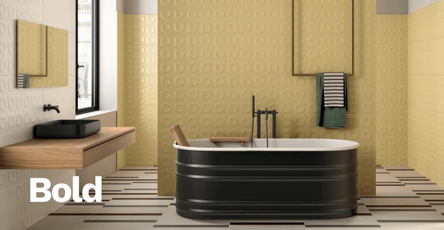 Inspirace barevná koupelna ze série BOLD