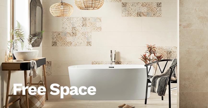 Inspirace světlé koupelny v série FREE SPACE