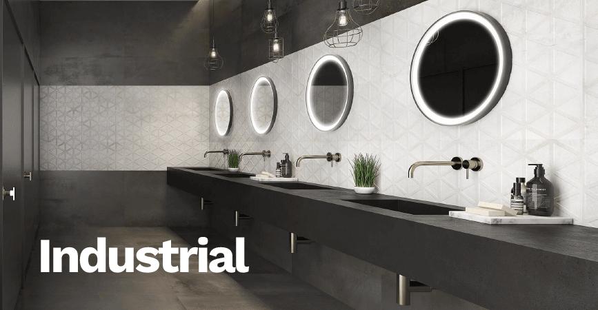 Inspirace industriální koupelny  INDUSTRAL