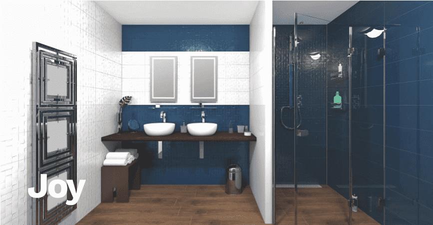 Inspirace barevné a pestré koupelny ze série JOY