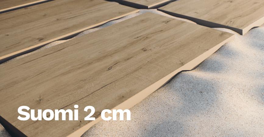 Venkovní dlažba v imitaci dřeva SUOMI