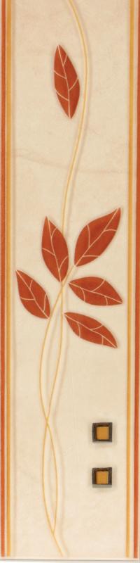 Listela ELIZA Hnědá 6,5 x 25 cm