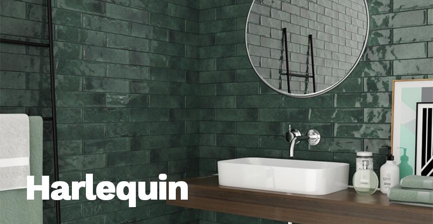 Inspirace tmavé koupelny HARLEQUIN