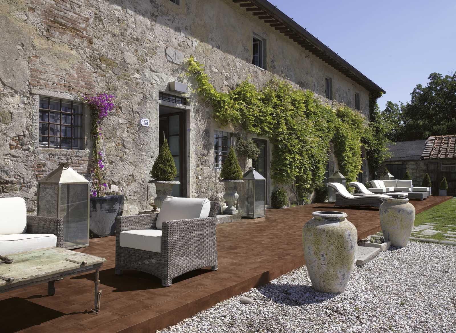 venkovní cotto dlažba COTTI D ITALIA