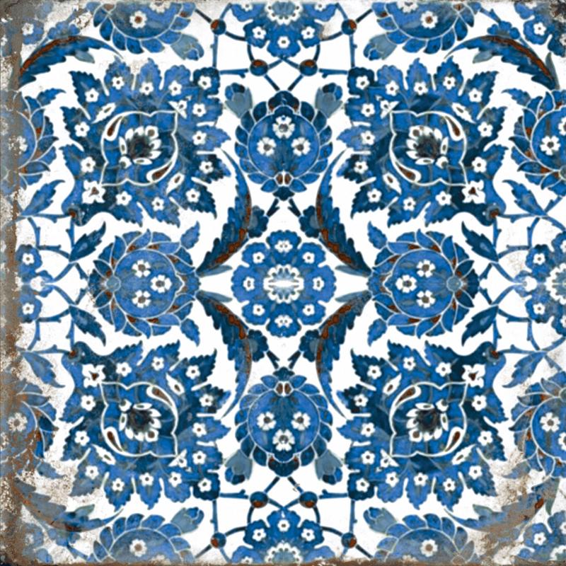 modrá retro dlažba MAIOLICHE Decor