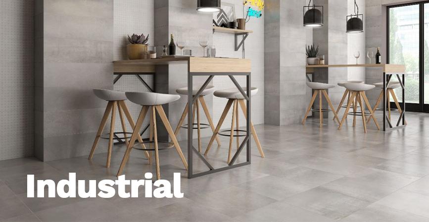 Obklady a dlažba série Industrial v imitaci betonu