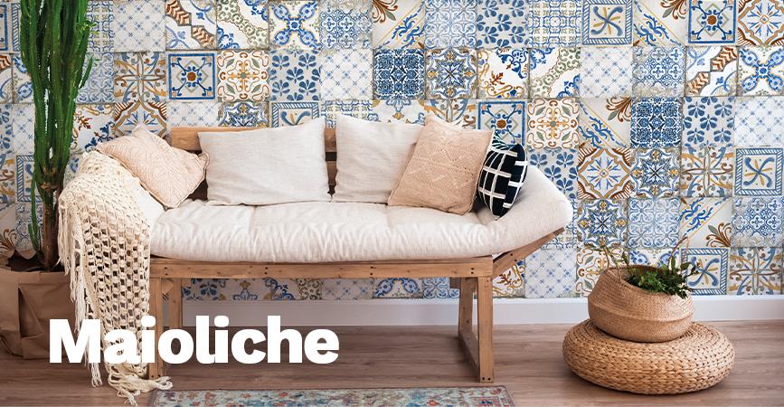 Série vintage a retro obkladů Maioliche