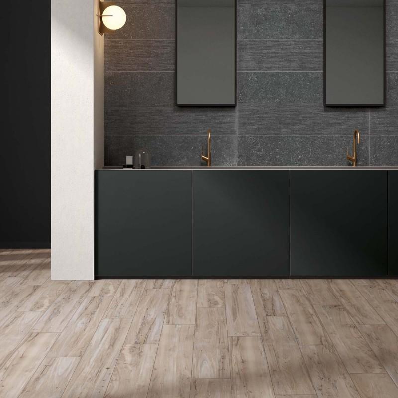 Rustikální koupelnová dlažba a obklady Nest v imitaci dřeva